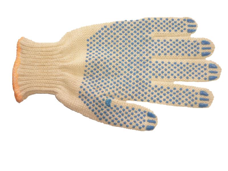 Перчатки х/б с точечным ПВХ