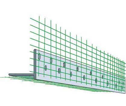 Угол перфорированый с сеткой (контрошульц) (3 м)